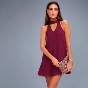 Lulu's Groove Thing A-Line High Neck Dress